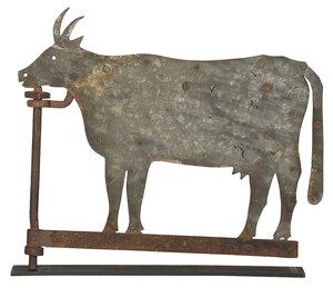 Sheet Iron Bull Weathervane