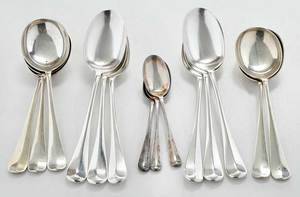 14 English Silver Spoons