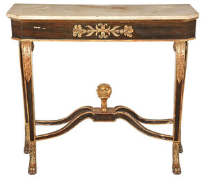 Rare New York Classical Marble Top Pier Table