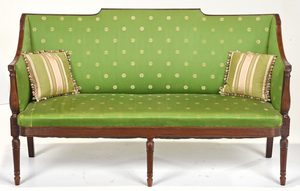 Rare Signed Philadelphia Federal Mahogany Sofa