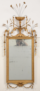 Fine Federal Carved and Giltwood Mirror