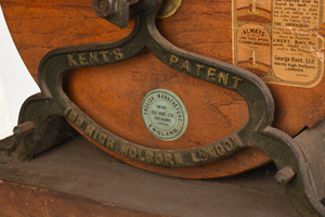 Cast Iron and Wood Kent Rotary Knife Sharpener