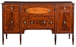 Rare Signed, Dated New Hampshire Federal Sideboard