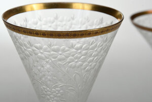 21 Pieces of Engraved Bohemian Style Stemware