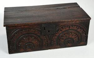 Charles II Carved Oak Bible Box