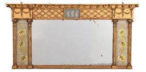 Fine Jasperware Inset Over Mantel Mirror