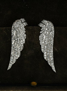 Platinum, Gold and Diamond Earclips