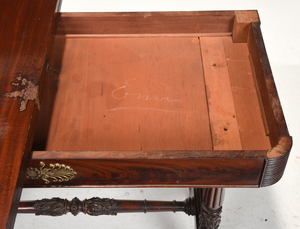 Classical Mahogany and Brass Mounted Card Table