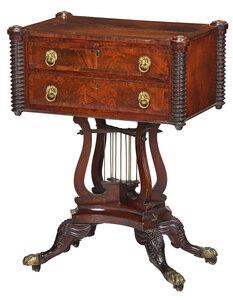 Fine American Classical Mahogany Work Table