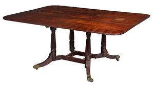 Federal Mahogany Cumberland Action Dining Table