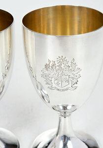 Set of Twelve George III English Silver Goblets