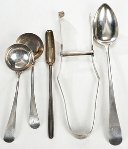 Four Pieces English Silver Flatware