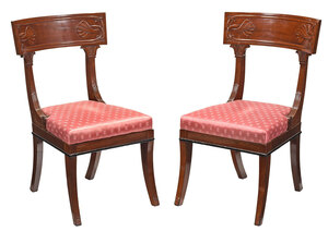 Exceptional Pair of Classical Klismos Chairs
