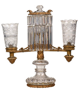 Lewis Vernon & Co. Gilt Bronze Argand Lamp