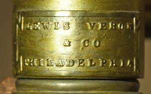 Lewis Vernon & Co. Gilt Bronze Argand Lamp