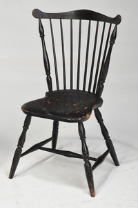 American Windsor Fan Back Side Chair and Stool