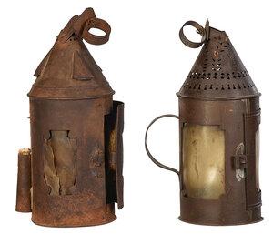 Two Sheet Iron and Horn Lanthorns/Lanterns