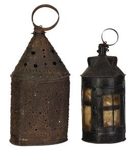 Two Sheet Iron Hanging Lanterns