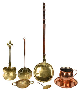 Group of Seven Assorted Brass and Copper Objects