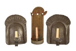 Three Tin Wall Sconces
