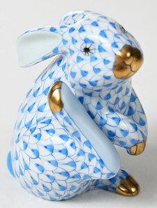 Five Herend Rabbit and Elephant Animal Figures