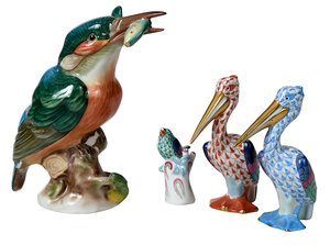 Four Herend Bird Figures