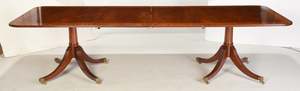 George III Style Mahogany Two Pedestal Dining Table