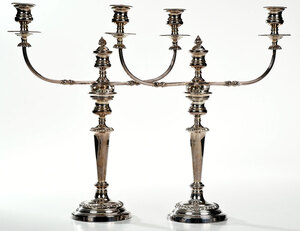 Pair of Silver Plate Candelabra