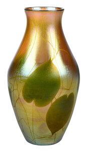 Tiffany Favrile Leaf and Vine Vase
