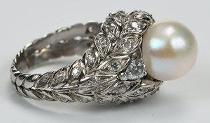 Platinum, Diamond and Pearl Ring
