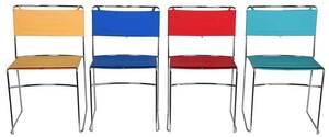 Four Enzo Mari Delfina Chairs