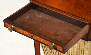 Very Fine Federal Bird's Eye Maple Sewing Table