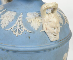 Four Finely Decorated Wedgwood Jasperware Urns