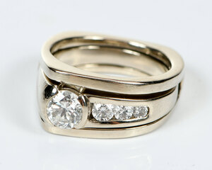 14kt. Diamond Ring Set