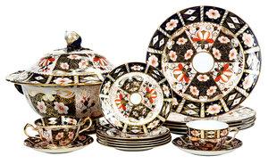 48 Pieces of Royal Crown Derby Imari Porcelain