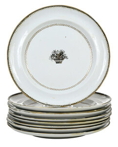 Set of Nine Chinese Export Porcelain Plates