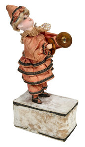 Automaton Clown Figure with Cymbals