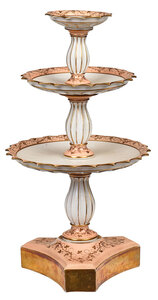 Paris Porcelain Three Tiered Compote