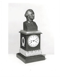 Fine Neoclassical George Washington Mantel Clock