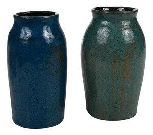 Two Bachelder Pottery Vases