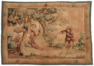French Courting Scene Tapestry