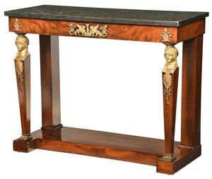 Empire Egyptian Revival Ormolu Mounted Pier Table