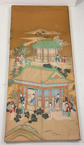 Two Painted Chinese Panels