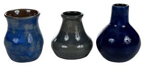 Three Bachelder Pottery Vases
