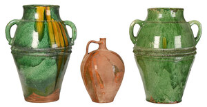 Three French Earthenware Vessels