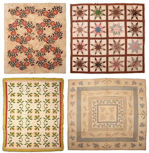 Four Georgia Attributed Summer Weight Quilts