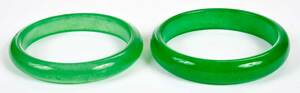 Seven Carved Jade and Hardstone Bangle Bracelets