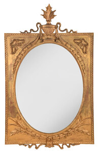 Neoclassical Carved Giltwood Mirror