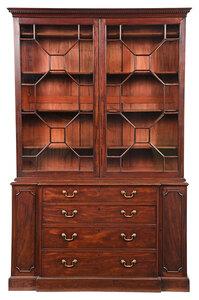 Fine George III Mahogany Bookcase Cabinet