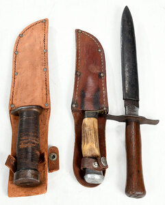Group of Three Fixed Blade Knives